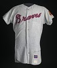 Thumbnail for Jersey for the Atlanta Braves worn and autographed by Hank Aaron
