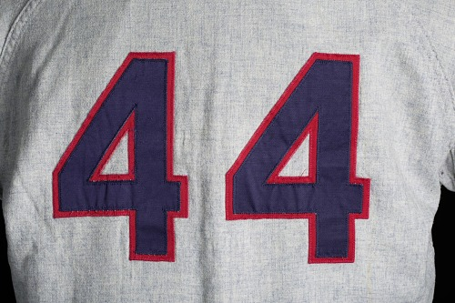 Image for Jersey for the Atlanta Braves worn and autographed by Hank Aaron