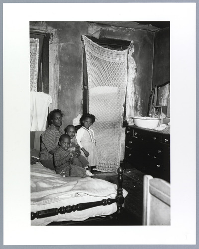 Image for Photographic print of Thelma Thompson and her three children