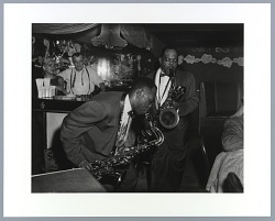 Photographic print of J. C. Gordon and unidentified saxaphonist