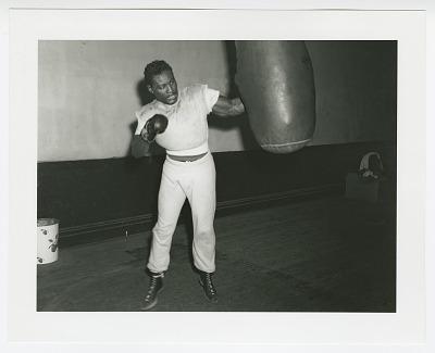 Photographic print of boxer Ezzard Charles