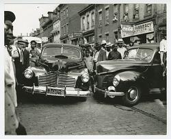 Photographic print of a car crash