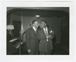 Photographic print of Lionel Hampton and Bill Nunn