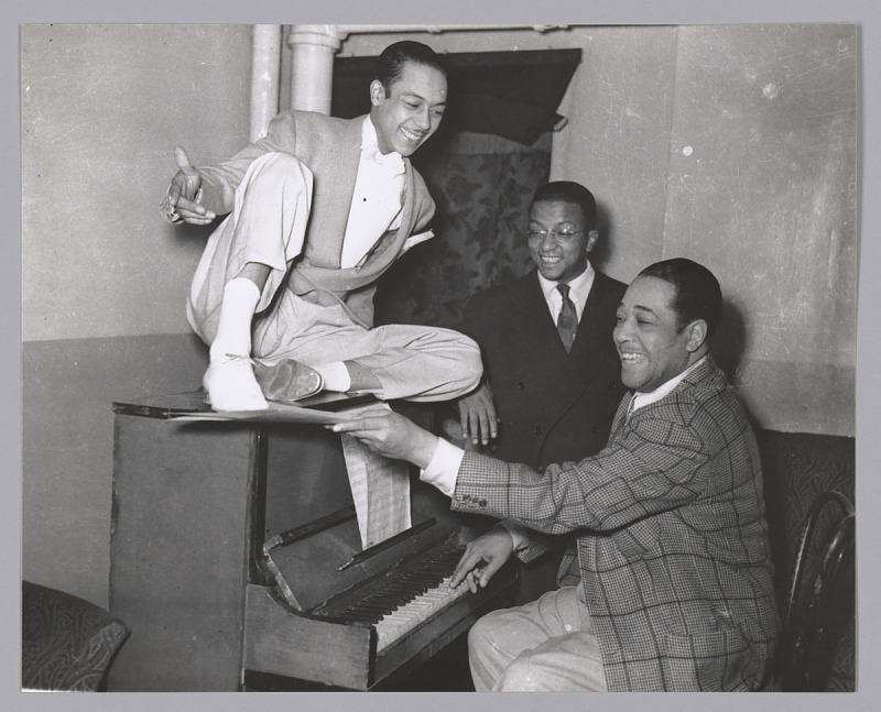 Image 1 for Photographic print of Duke Ellington, Alfredo Gustar, and Billy Strayhorn