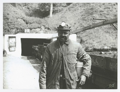 Photographic print of a coal miner