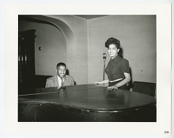 Photographic print of Eroll Garner and unknown woman at a piano