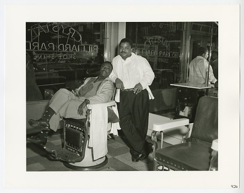 Image for Photograph of Jerry Sumpter and Clarence Williams in the Crystal Barber Shop