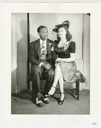 Photographic print of an unidentified couple