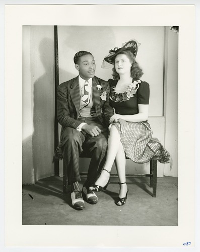 Image for Photographic print of an unidentified couple