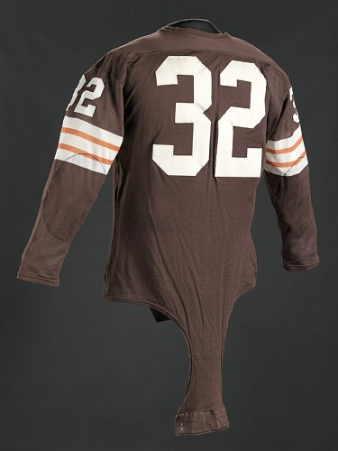 new concept 990ce cec44 Jersey for the Cleveland Browns worn and signed by Jim Brown ...