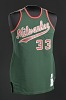Thumbnail for Jersey for the Milwaukee Bucks worn and signed by Kareem Abdul-Jabar