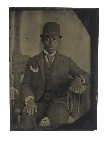 Image for Tintype of man in suit, tie, and hat