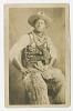 Thumbnail for Photographic postcard portrait of a cowboy