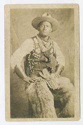 Photographic postcard portrait of a cowboy