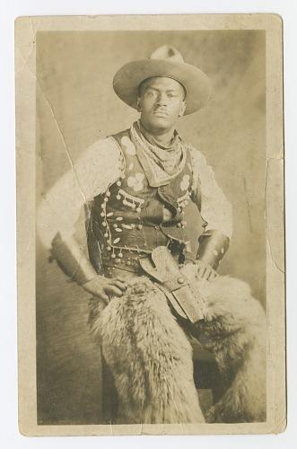 Image for Photographic postcard portrait of a cowboy