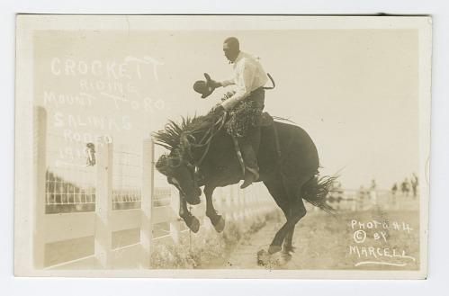 Image for Crockett Riding Mount Toro. Salinas Rodeo, 1919