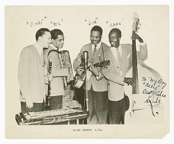 "Photograph of the Scoby Browne Quartet autographed by ""Duke"""