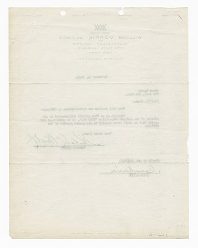 Image for Contract between Count Basie and Richard Wright regarding