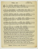 """Sheet music for """"Hands Off"""" by Suliamon El-Hadi"""