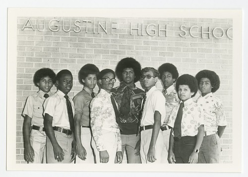 Image for Photograph of Honor Roll students at St. Augustine High School