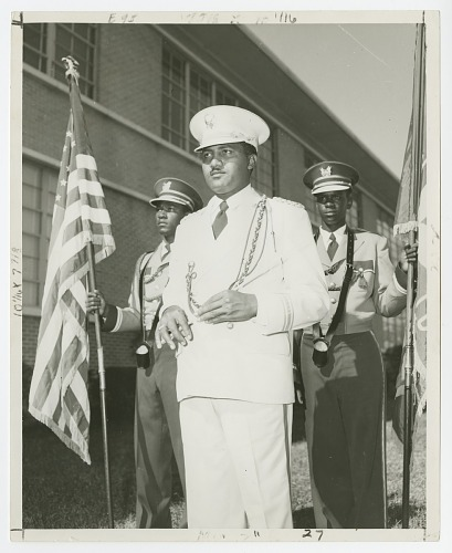 Image for Photograph of St. Augustine High School band leader Edwin Harrell Hampton