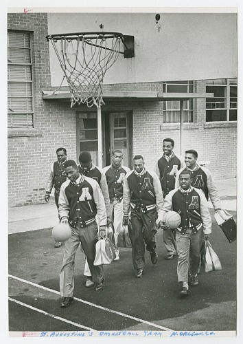 Image for Photograph of the St. Augustine High School basketball team