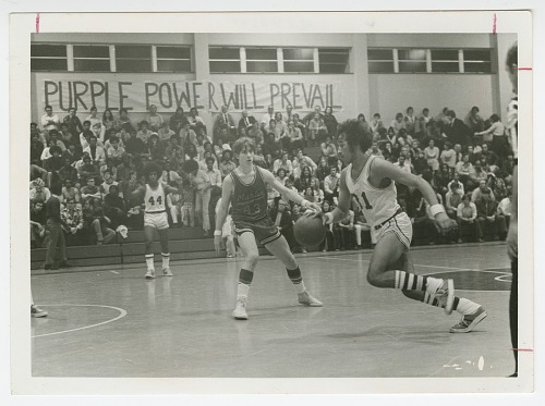 Image for Photograph of a basketball game at St. Augustine High School