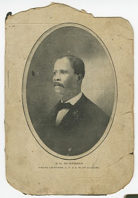 Photograph of E. G. Humphrey wearing a suit