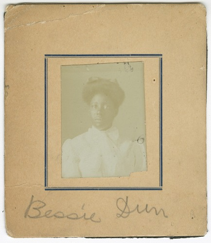 Image for Photograph of Bessie Durr in a white dress