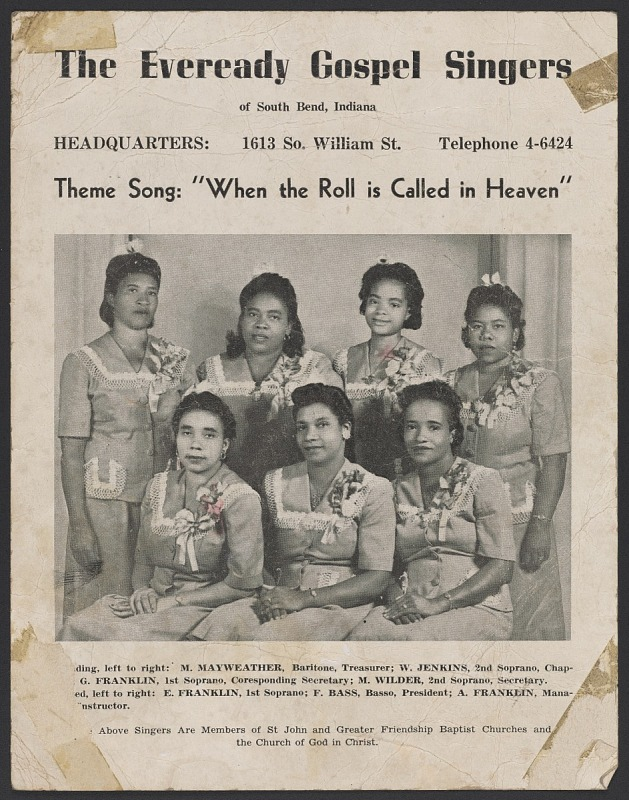 Image 1 for Advertisement poster for the Eveready Gospel Singers