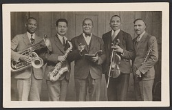 Photographic postcard of the Cleveland Colored Quintet