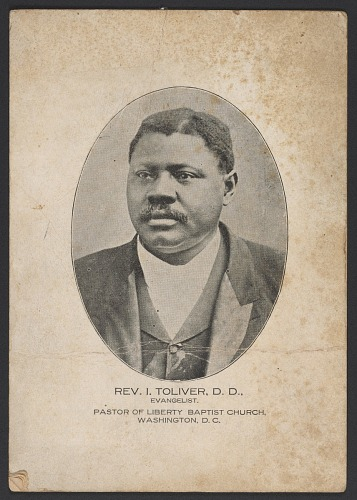 Image for Advertisement card for Rev. Isaac Toliver