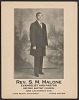 Thumbnail for Advertisement card for Rev. S. M. Malone