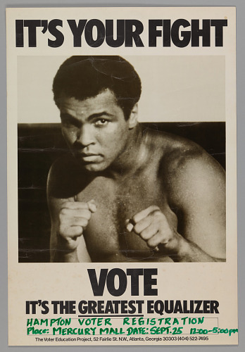 Image for Poster for voting rights featuring Muhammad Ali