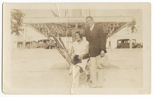 Image for Photographic print of Eunice Jackson and Owen William