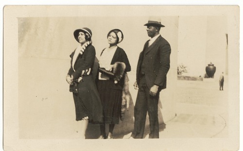 Image for Photographic print of Eunice Jackson and an unidentified woman and man