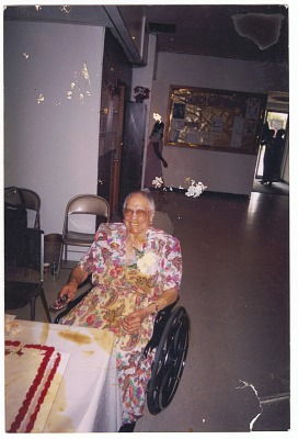<I>Eunice Jackson at 100th birthday celebration</I>