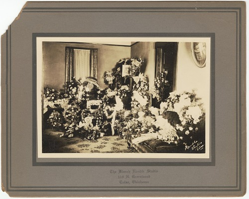 Image for Photographic print of funeral floral arrangements for Samuel M. Jackson Jr.
