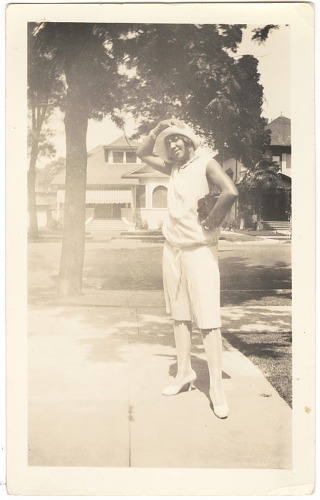 Image for Photographic print of Eunice Jackson posing outside