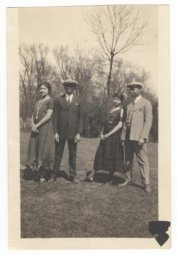 Image for Photographic print of two couples standing outdoors