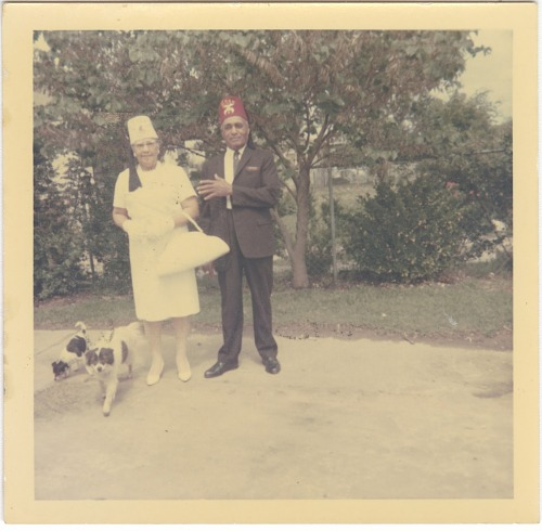 Image for Chromogenic print of Mr. & Mrs. Jackson in Shriner regalia