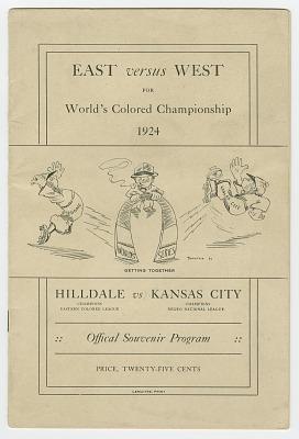Souvenir program for 1924 World's Colored Championship
