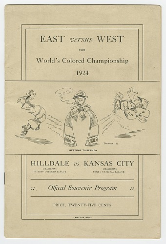 Image for Souvenir program for 1924 World's Colored Championship