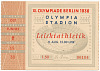 Thumbnail for Ticket stub for the 1936 Berlin Summer Olympics