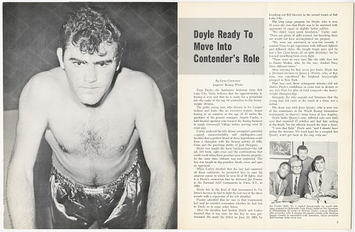 Image for Program for boxing match between Tony Doyle and Joe Frazier