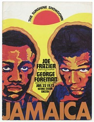 Program for a boxing match between Joe Frazier and George Foreman