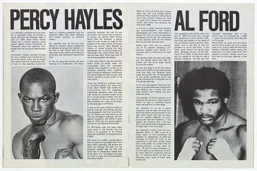 Image for Program for a boxing match between Joe Frazier and George Foreman