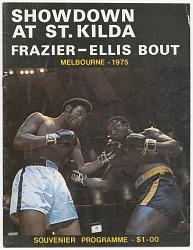 Program for a boxing match between Jimmy Ellis and Joe Frazier
