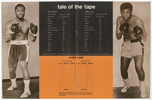 Image for Program for a boxing match between Jimmy Ellis and Joe Frazier