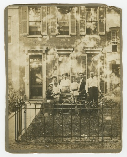 Image for Photograph of Dr. William H. Conner and family outside their home
